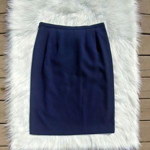 Pendleton Navy Blue Dress Skirt